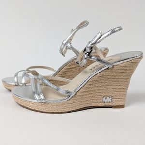 Michael Kors Strappy Wedge Sandals size 8.5M NWOT